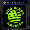 God Bless America Decal Sticker Lime Green Vinyl 120x120