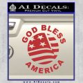 God Bless America Decal Sticker Red 120x120