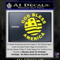 God Bless America Decal Sticker Yellow Laptop 120x120