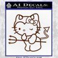 Hello Kitty Devilish Decal Sticker D1 BROWN Vinyl 120x120