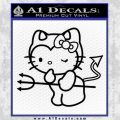 Hello Kitty Devilish Decal Sticker D1 Black Vinyl 120x120