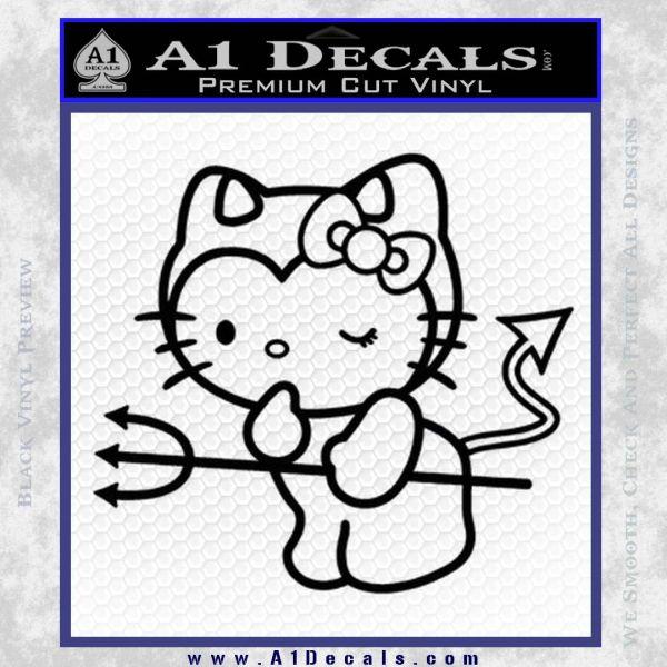 Hello Kitty Devilish Decal Sticker D1 Black Vinyl