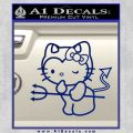 Hello Kitty Devilish Decal Sticker D1 Blue Vinyl 120x120