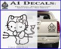 Hello Kitty Devilish Decal Sticker D1 Carbon FIber Black Vinyl 120x97