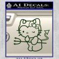 Hello Kitty Devilish Decal Sticker D1 Dark Green Vinyl 120x120
