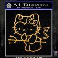 Hello Kitty Devilish Decal Sticker D1 Gold Vinyl 120x120