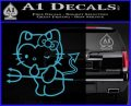 Hello Kitty Devilish Decal Sticker D1 Light Blue Vinyl 120x97