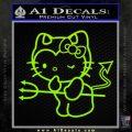 Hello Kitty Devilish Decal Sticker D1 Lime Green Vinyl 120x120