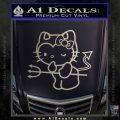 Hello Kitty Devilish Decal Sticker D1 Metallic Silver Emblem 120x120