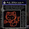 Hello Kitty Devilish Decal Sticker D1 Orange Emblem 120x120