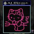 Hello Kitty Devilish Decal Sticker D1 Pink Hot Vinyl 120x120