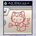 Hello Kitty Devilish Decal Sticker D1 Red 120x120