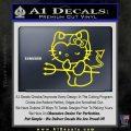 Hello Kitty Devilish Decal Sticker D1 Yellow Laptop 120x120