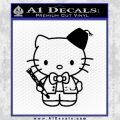 Hello Kitty Doctor Who Fez Decal Sticker Black Vinyl 120x120