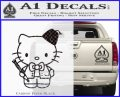 Hello Kitty Doctor Who Fez Decal Sticker Carbon FIber Black Vinyl 120x97