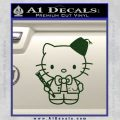 Hello Kitty Doctor Who Fez Decal Sticker Dark Green Vinyl 120x120