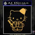 Hello Kitty Doctor Who Fez Decal Sticker Gold Vinyl 120x120