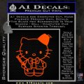 Hello Kitty Doctor Who Fez Decal Sticker Orange Emblem 120x120