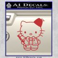 Hello Kitty Doctor Who Fez Decal Sticker Red 120x120