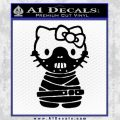 Hello Kitty Hannibal Lecter Decal Sticker Black Vinyl 120x120