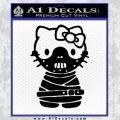Hello Kitty Hannibal Lecter Decal Sticker Black Vinyl 120x120