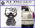 Hello Kitty Hannibal Lecter Decal Sticker Carbon FIber Black Vinyl 120x97