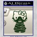 Hello Kitty Hannibal Lecter Decal Sticker Dark Green Vinyl 120x120