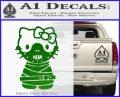 Hello Kitty Hannibal Lecter Decal Sticker Green Vinyl Logo 120x97