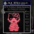 Hello Kitty Hannibal Lecter Decal Sticker Pink Emblem 120x120