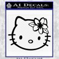 Hello Kitty Hawaii Hibiscus Decal Sticker Black Vinyl 120x120