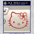 Hello Kitty Hawaii Hibiscus Decal Sticker Red 120x120