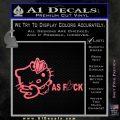 Hello Kitty JDM As Fuck Soshinoya Decal Sticker Pink Emblem 120x120