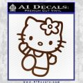 Hello Kitty Kick Decal Sticker BROWN Vinyl 120x120