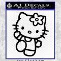 Hello Kitty Kick Decal Sticker Black Vinyl 120x120