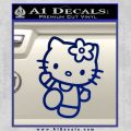 Hello Kitty Kick Decal Sticker Blue Vinyl 120x120
