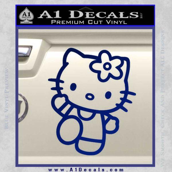 Hello Kitty Kick Decal Sticker Blue Vinyl