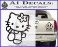 Hello Kitty Kick Decal Sticker Carbon FIber Black Vinyl 120x97