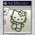 Hello Kitty Kick Decal Sticker Dark Green Vinyl 120x120
