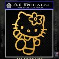 Hello Kitty Kick Decal Sticker Gold Vinyl 120x120