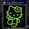 Hello Kitty Kick Decal Sticker Lime Green Vinyl 120x120