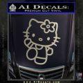 Hello Kitty Kick Decal Sticker Metallic Silver Emblem 120x120