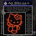 Hello Kitty Kick Decal Sticker Orange Emblem 120x120
