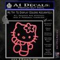 Hello Kitty Kick Decal Sticker Pink Emblem 120x120
