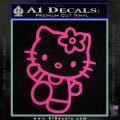Hello Kitty Kick Decal Sticker Pink Hot Vinyl 120x120