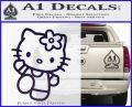Hello Kitty Kick Decal Sticker PurpleEmblem Logo 120x97