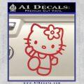 Hello Kitty Kick Decal Sticker Red 120x120