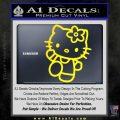 Hello Kitty Kick Decal Sticker Yellow Laptop 120x120
