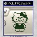 Hello Kitty Nerd Decal Sticker D1 Dark Green Vinyl 120x120