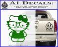 Hello Kitty Nerd Decal Sticker D1 Green Vinyl Logo 120x97
