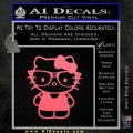 Hello Kitty Nerd Decal Sticker D1 Pink Emblem 120x120